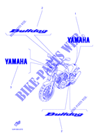 STICKER per Yamaha BT1100 2002