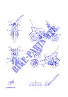 STICKER YQ50 50 yamaha-motocicli 2008 AEROX FIG_42